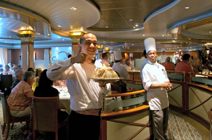 When cruising with Princess Cruises, there are many dining options aboard the Coral Princess. Italian to formal, room service to steak, no one goes hungry!