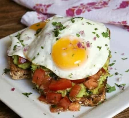 Bruschetta Fried Egg Avocado Toast