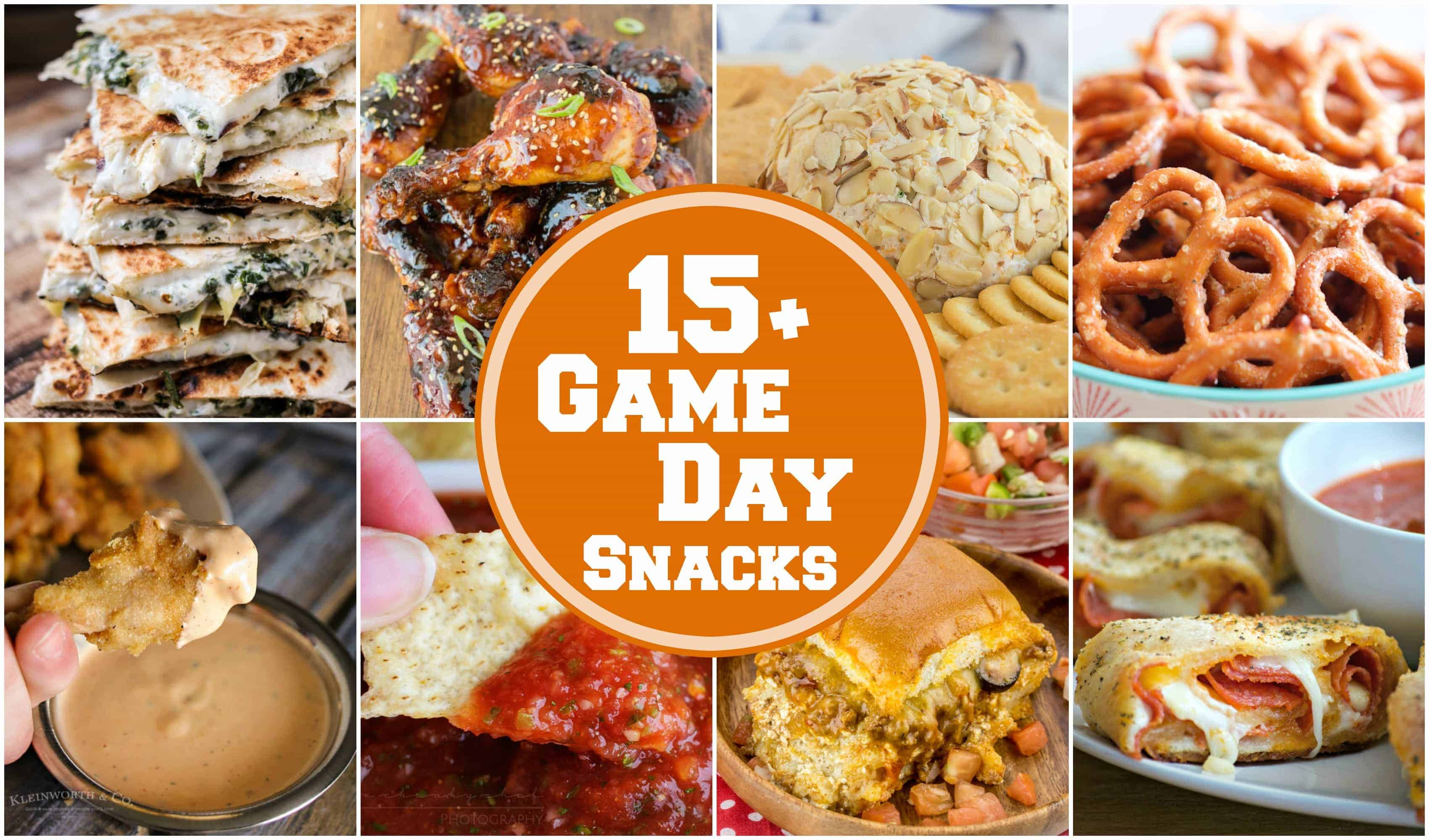 15+ Game Day Snacks to make sure your get-together is complete. With these finger foods from savory to sweet, no one will be going hungry at your party!