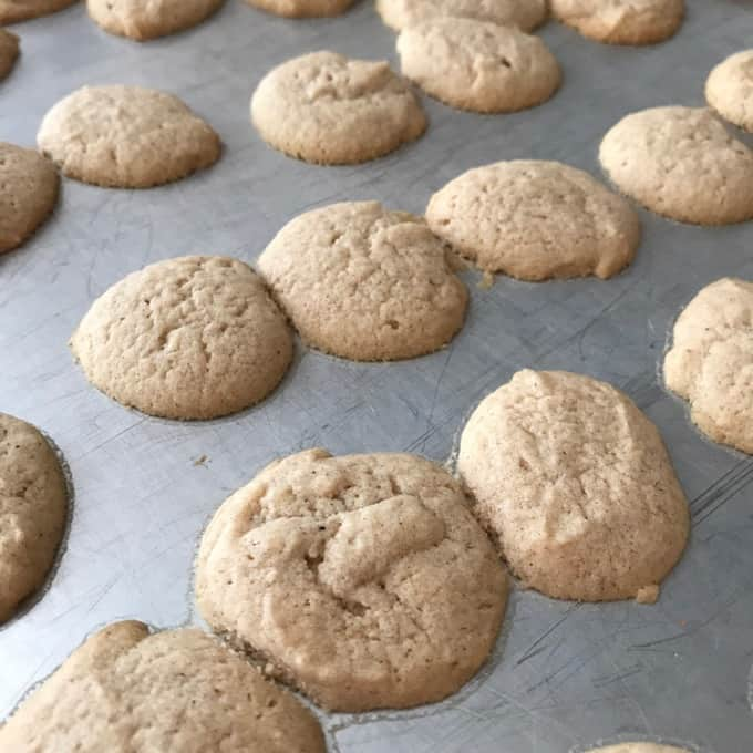 Pumpkin Spice Cream Cheese Cookies with butter instead of shortening.
