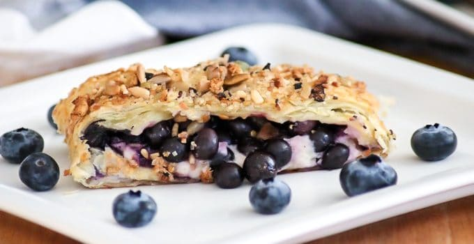 Blueberry Ginger Cheese Danish