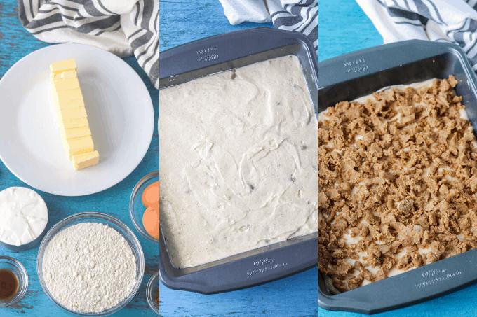 Process shots of making Coffee Cake.