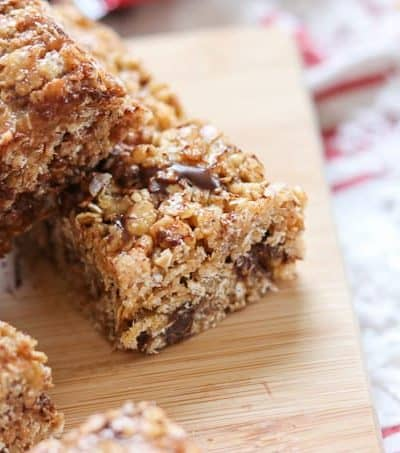 When there's no time for breakfast, eat one of these No-Bake Rice Krispies Granola Bars. You can even enjoy them as a mid-morning snack.
