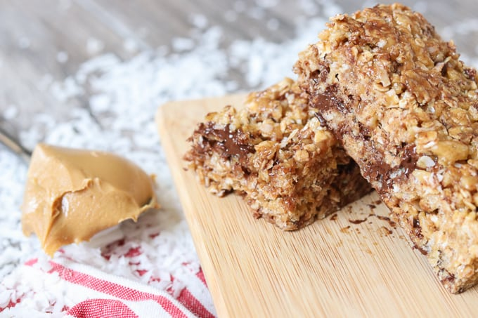 Chocolate, peanut butter, coconut, Rice Krispies and oats are some of the great ingredients that make these delicious No-Bake Rice Krispies Granola Bars.