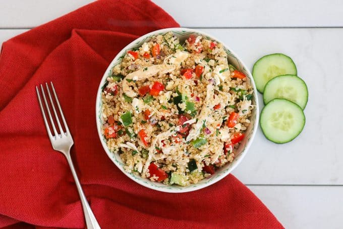 Greek Quinoa Chicken Salad 365 Days Of Baking And More