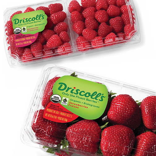 Driscoll's berries are Fair Trade Certified.
