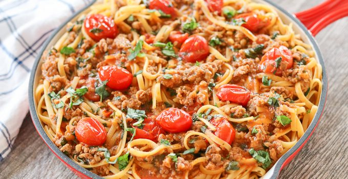 One Pot Sausage Linguine