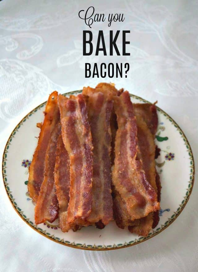 Big plate of bacon - How to Bake Bacon.