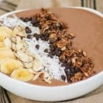 This Banana Mocha Smoothie Bowl is a great and healthy way to start your day.