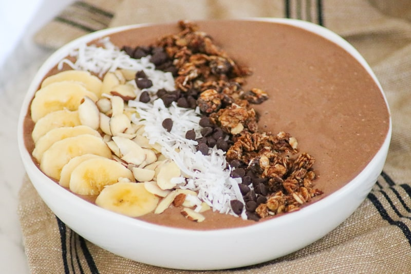 Banana Mocha Smoothie Bowl 365 Days Of Baking More