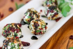 Cranberry Pecan Goat Cheese Bites.