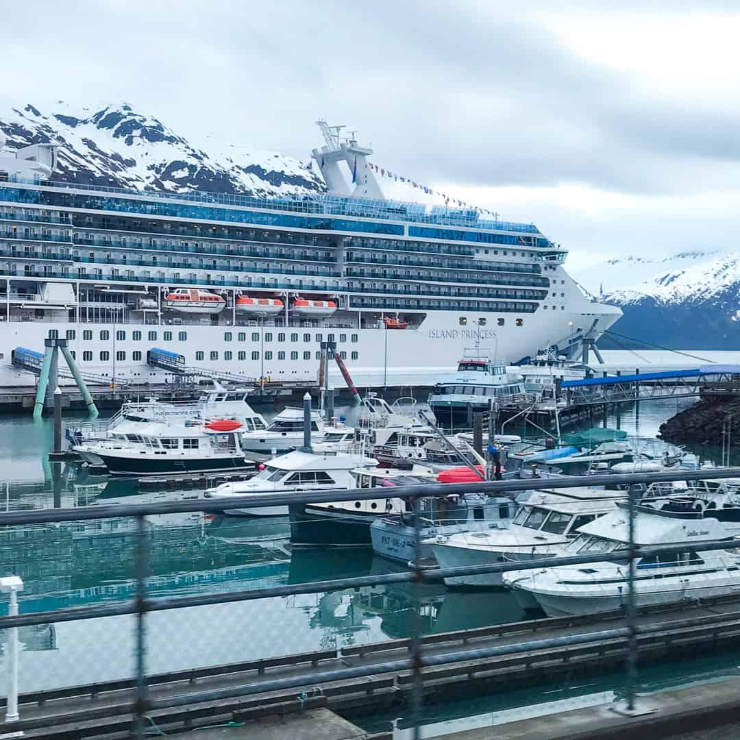Princess Cruises, Island Princess docked in Whittier, Alaska