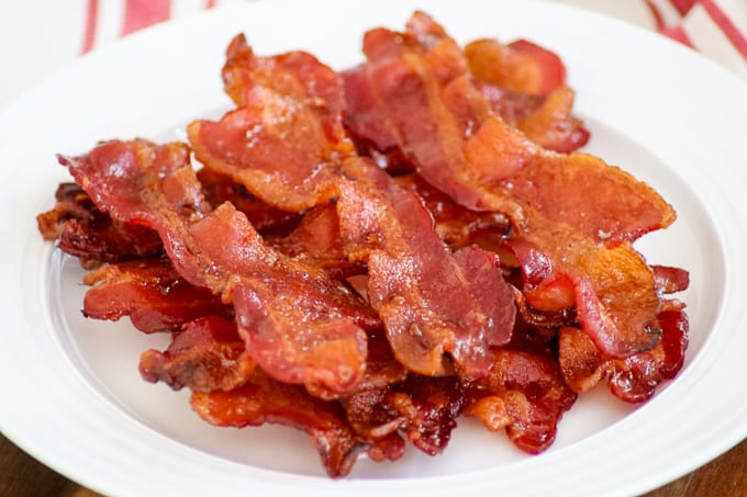 Perfectly cooked bacon EVERY time when you BAKE it in the oven.