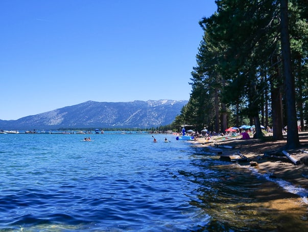 Beach at Camp Richardson in South Lake Tahoe, CA