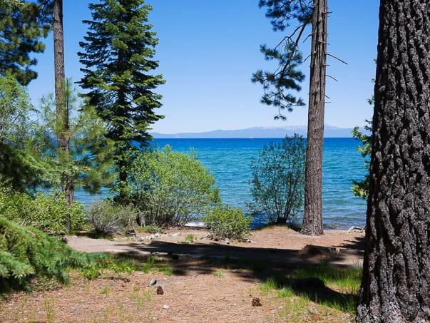 View of Lake Tahoe from Tallac Historic Site, South Lake Tahoe, CA