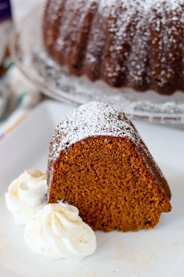 Slice of Chai Spiced Pumpkin Cake