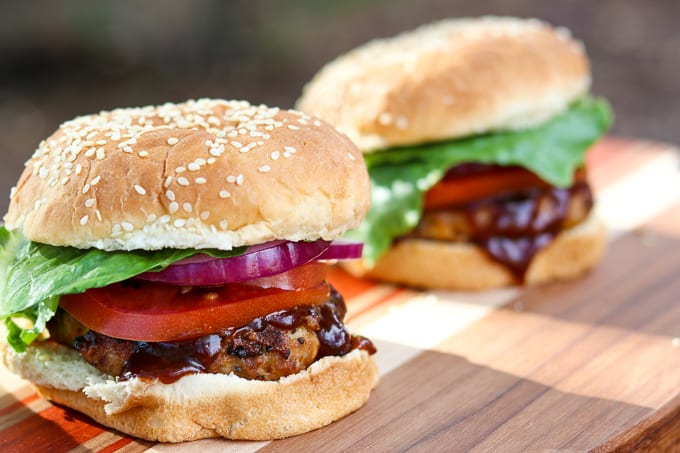 Two Cheesy Spiced Pork Burgers