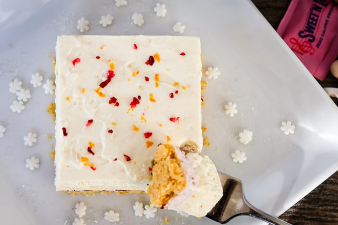 Top of Cranberry Orange Dream Bars