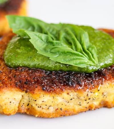 This Parmesan Pork Chops with Pesto is an easy recipe.