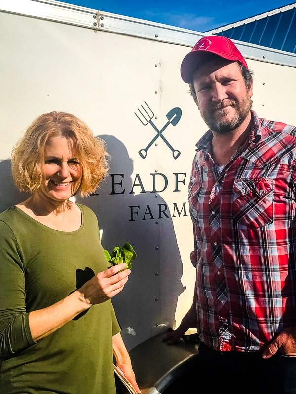 Lynne of 365 Days of Baking and Erich Schultz of Steadfast Farm.