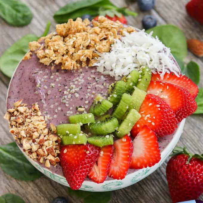 Blueberry Banana Smoothie Bowl
