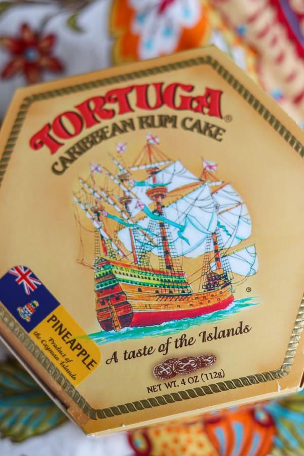 Tortuga Caribbean Rum Cake box.