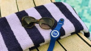 Some things you need for a Princess MedallionClass Cruise - towel, sunglasses and your OceanMedallion.