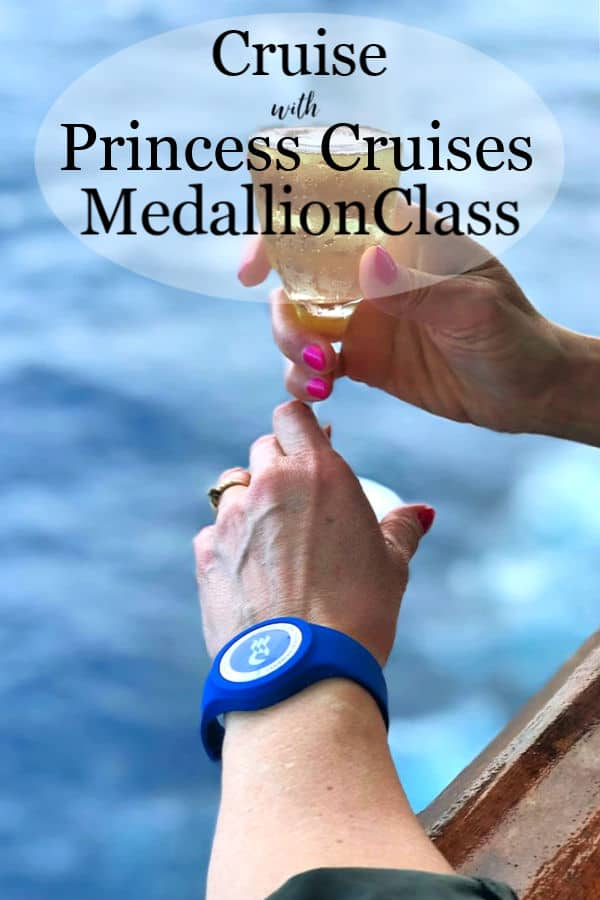 The OceanMedallion and a glass of champagne.