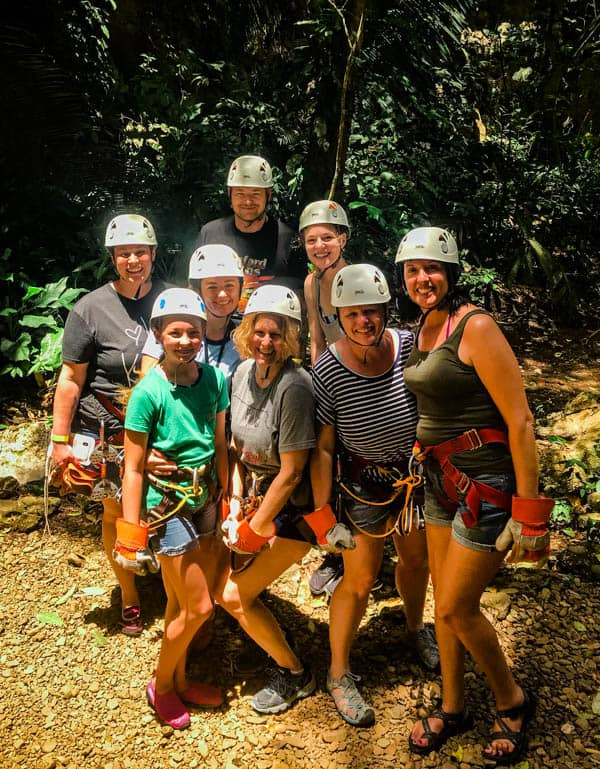 Zip lining in Belize with Chukka Tours.