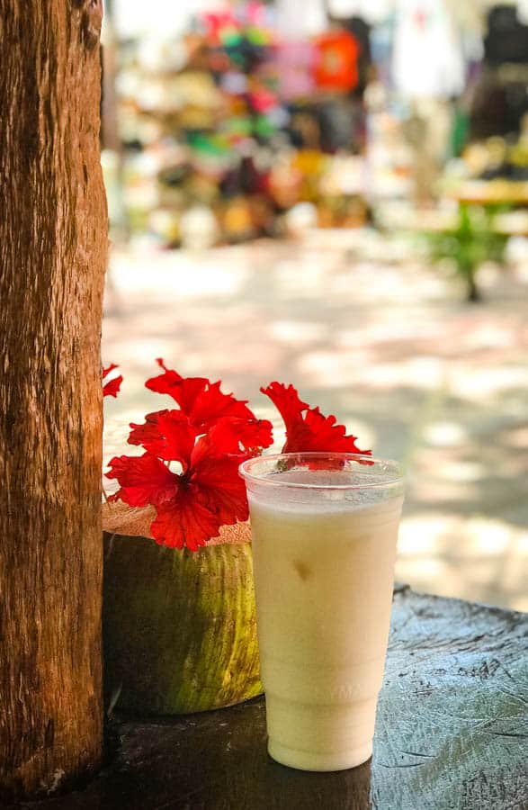 A Horchata in Tulum, Mexico