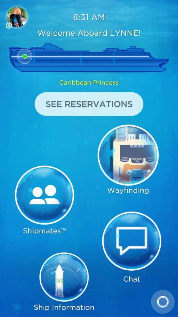 The Princess OceanCompass app.
