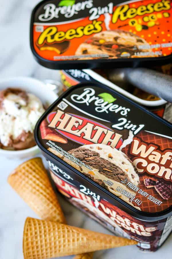 Breyer's Reese's 2 in 1 and Health Waffle Cone
