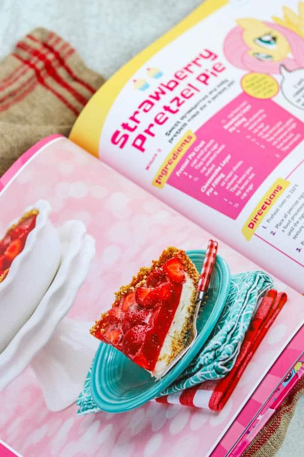 Strawberry Pretzel Pie from My Little Pony Baking Book.