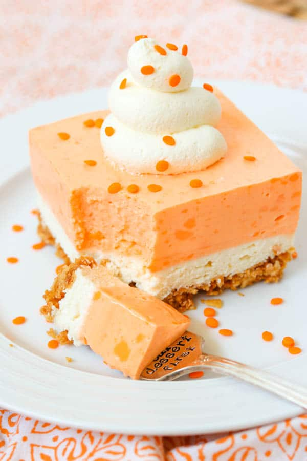 Orange Creamsicle Dream Bars.