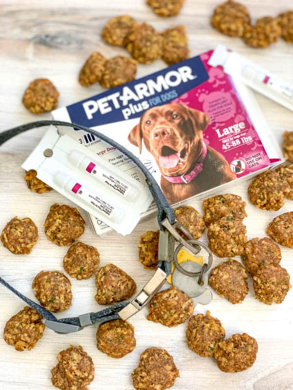 Chicken and Cheese Dog Treats with PetArmor Plus.