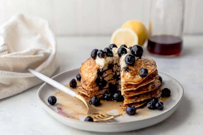 Peachy Lemon Blueberry Cottage Cheese Pancakes Interior Design Ideas Clesiryabchikinfo