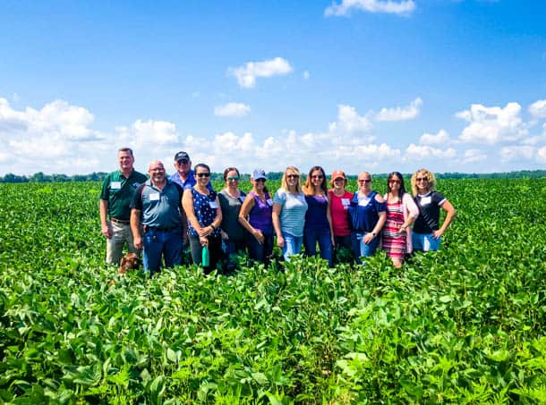 A soy farm tour at Lazy Day Farms sponsored by Best Food Facts.