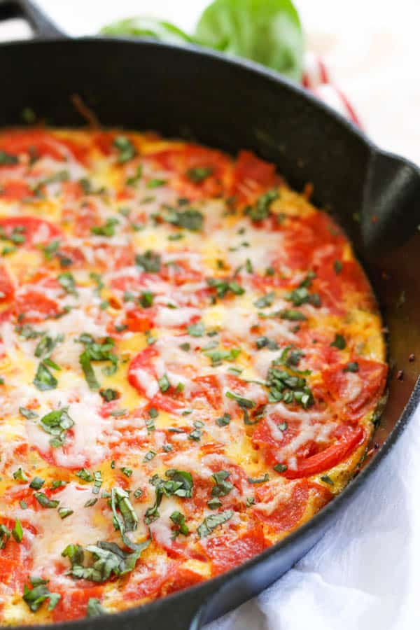 Half pan of Meat Lover's Pizza Frittata.