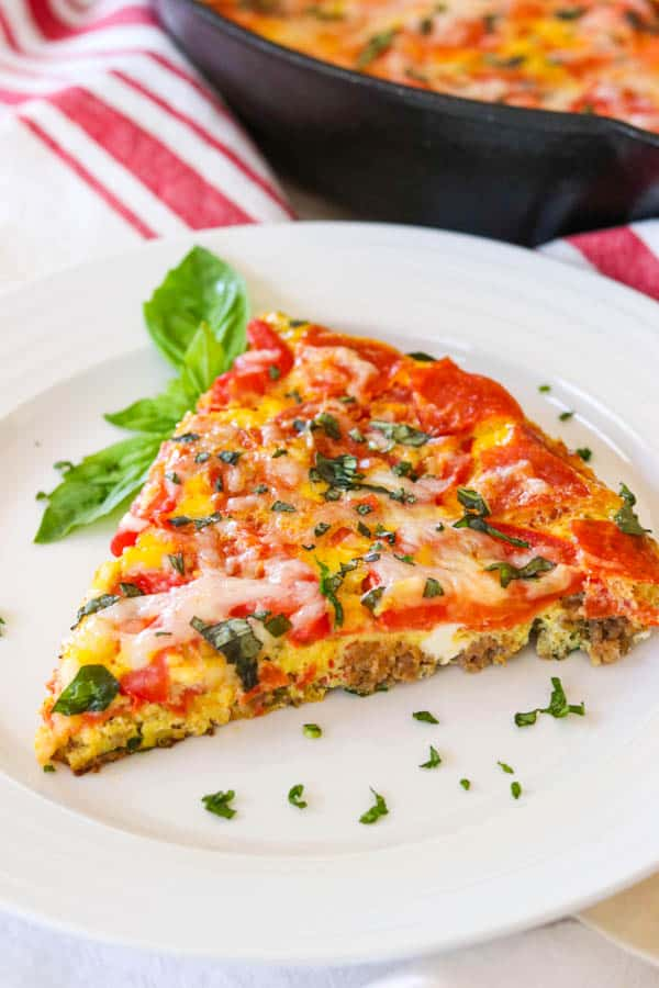 Slice of Meat Lover's Pizza Frittata.
