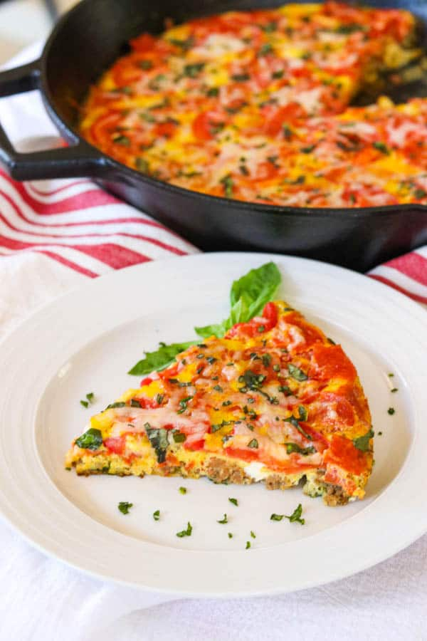 Meat Lover's Pizza Frittata
