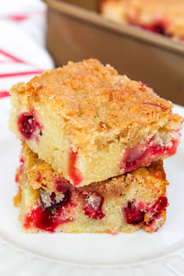 Cranberry Coffee Cake - just the right amount of tart with the right amount of sweet.