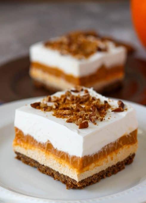 No Bake Pumpkin Dream Bars