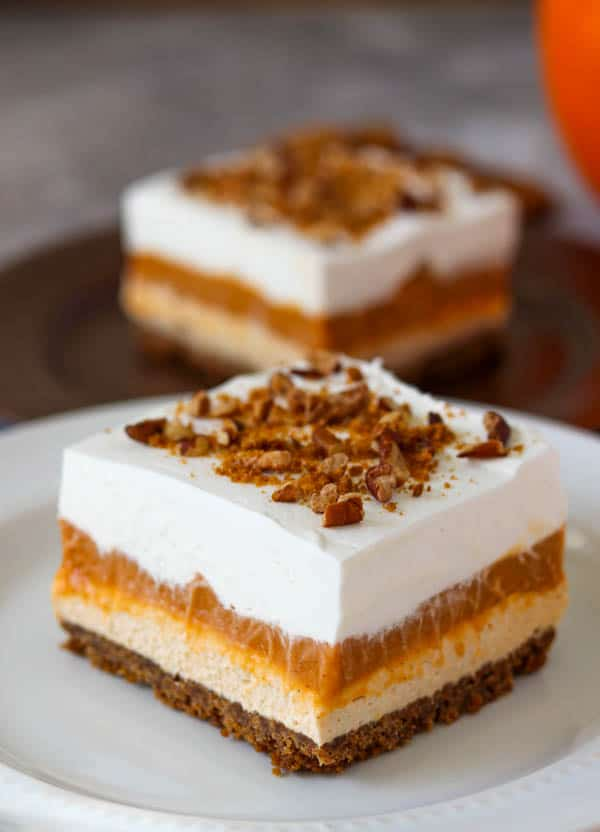 No Bake Pumpkin Dream Bars