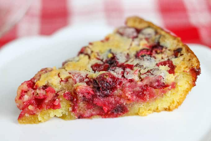 A plain slice of A slice of Easy Cranberry Pie Recipe.