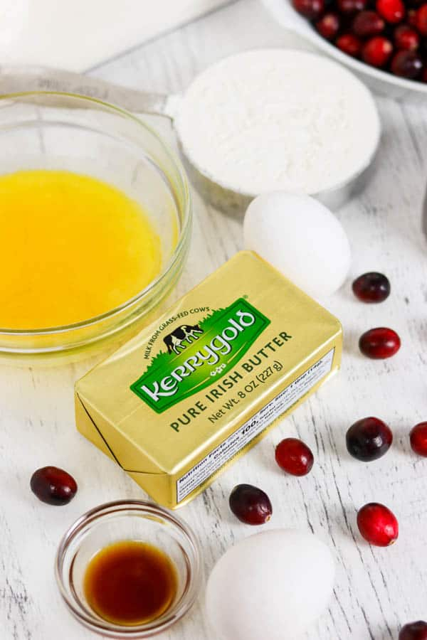 Kerrygold Pure Irish Butter for Easy Cranberry Pie Recipe
