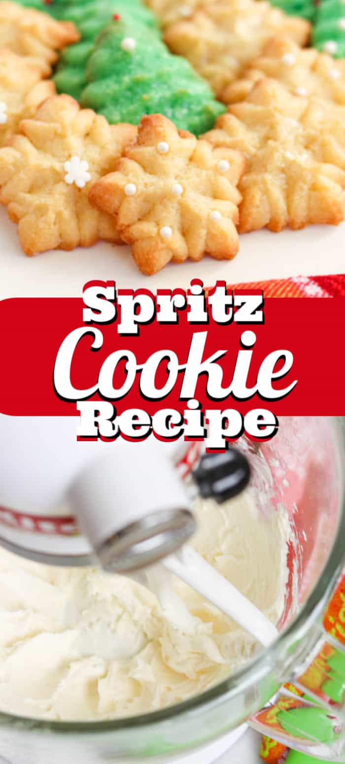 The making of Spritz Cookies.