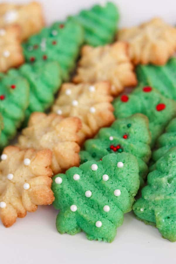 Baked Spritz Cookie recipe.