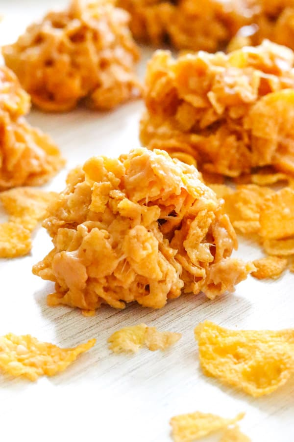 No Bake Peanut Butter Cornflake Cookies