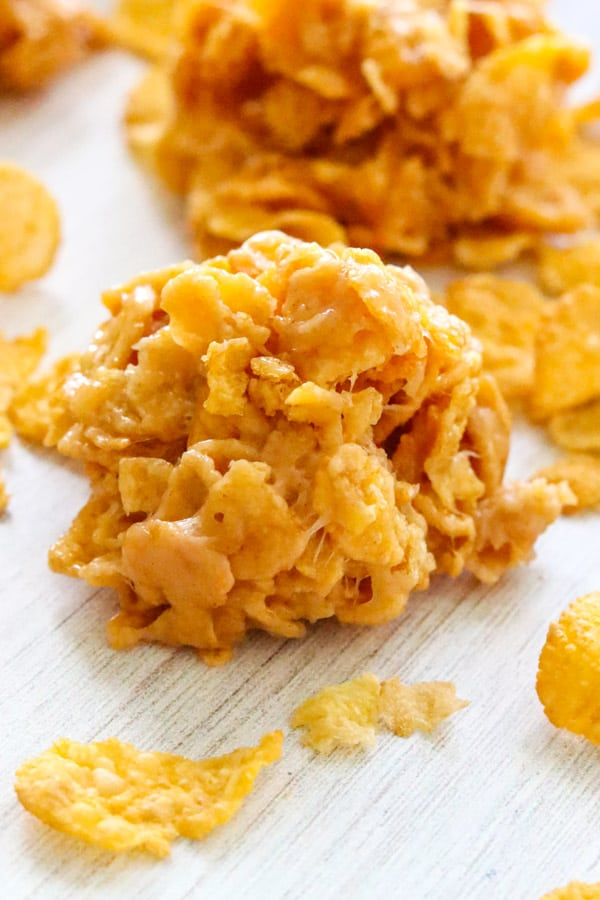 No Bake Cornflake Cookies without Corn Syrup.