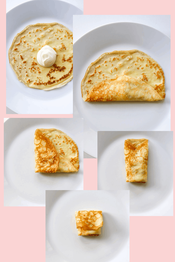 How to fold a cheese blintz.